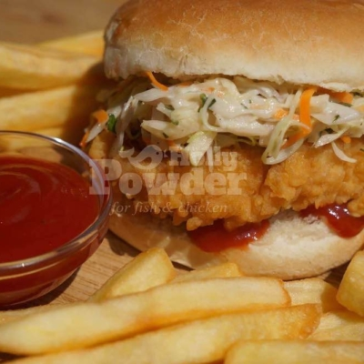Burger mit Chicken Nuggets 15E