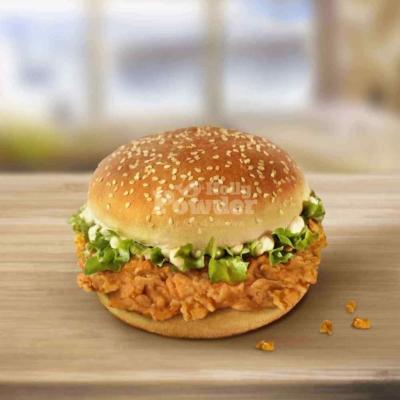 Burger mit Hähnchen in Knusperpanade A3