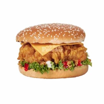 Crispy chicken burger Fotos Holly Powder