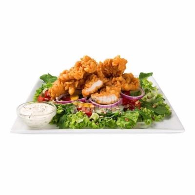 Fit Salat mit paniertem Hähnchen Y9