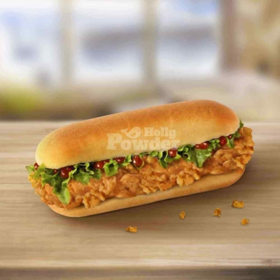 long chicken burger A6