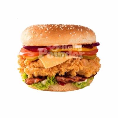 panierte hähnchenbrust im burger