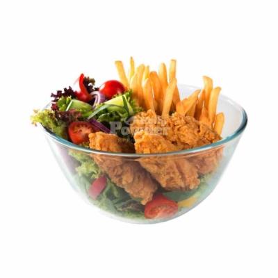 panierte hähnchenteile im salat
