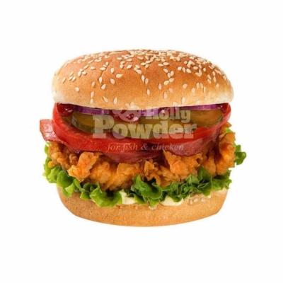 paniertes hähnchen im chickenburger