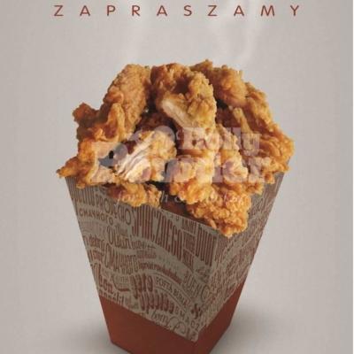 Plakat mit crispy chicken T3