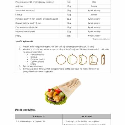 Zubereitung einer Tortilla wie bei kfc
